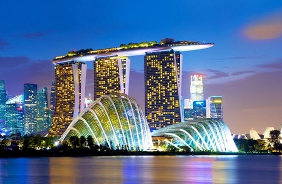 Khu nghỉ dưỡng Marina Bay Sands ở Singapore. Ảnh: Agoda.