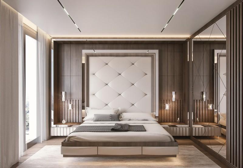 Giường gắn vào tường, trả lại không gian thoáng đãng cho mặt sàn