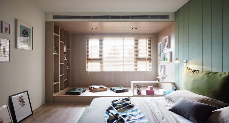 Phòng ngủ cũng là không gian linh hoạt giữa nơi nghỉ ngơi và chơi đùa