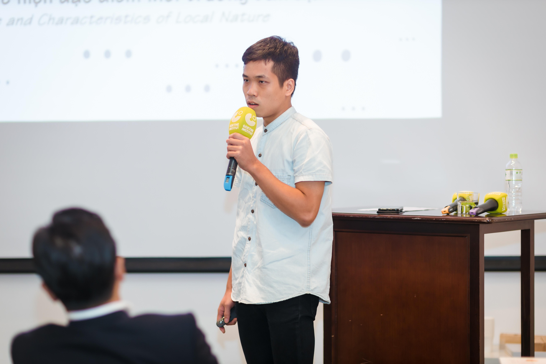 Ông Nguyễn Hữu Quân, kiến trúc sư Văn phòng Kiến trúc V-Architecture mang đến việc lấy giá trị truyền thống để tạo cảm hứng và giải pháp Sinh thái