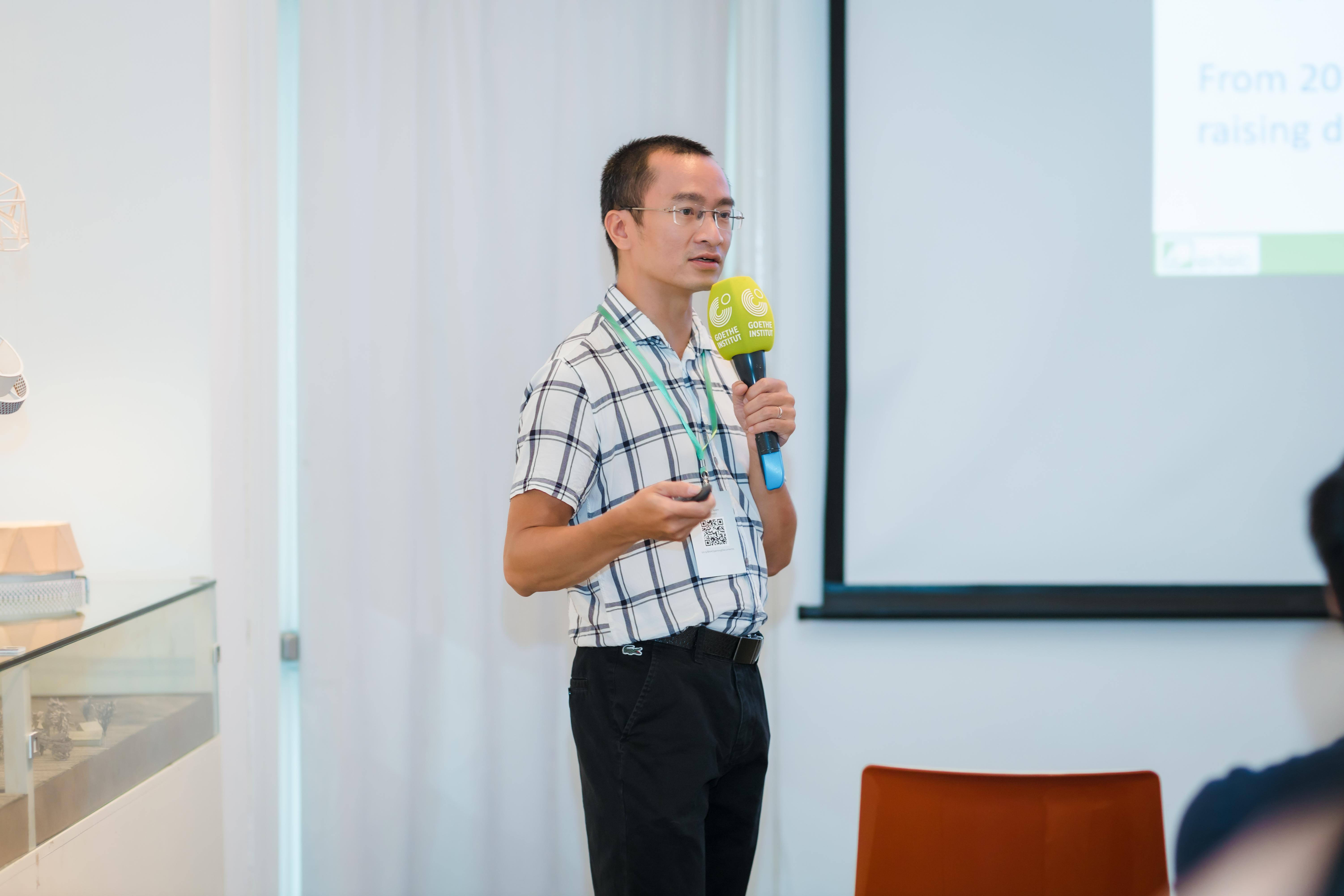 Ông Trần Thành Vũ, chủ tịch Hội đồng Mô phỏng công trình Việt Nam (IBPSA-Vietnam) đề xuất những ứng dụng khoa học trong việc thiết kế tối ưu hoá hiệu năng công trình