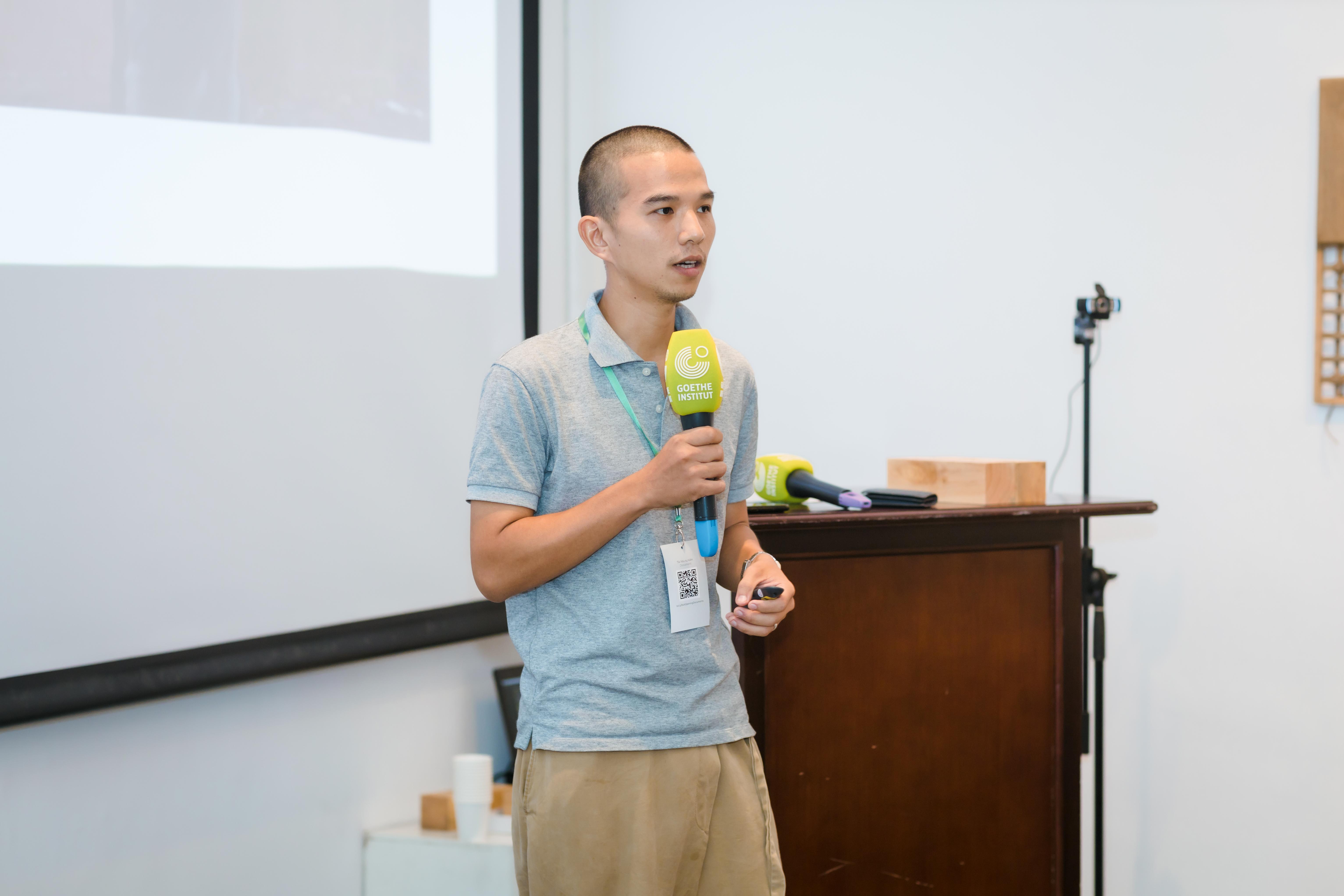Ông Nguyễn Minh Vũ, sáng lập Lá library chia sẻ về xu hướng xây dựng nhà đất với giải pháp tuần hoàn bền vững