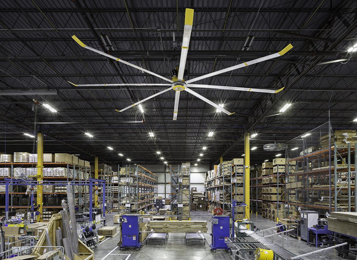 Quạt trần công nghiệp HVLS phù hợp