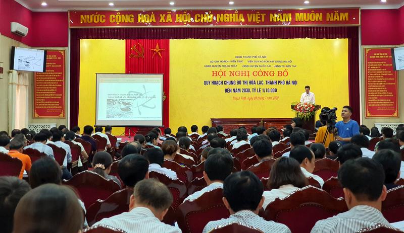 Toàn cảnh Hội nghị công bố Quy hoạch chung đô thị Hòa Lạc