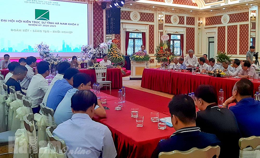 Toàn cảnh Đại hội khóa V (nhiệm kỳ 2020-2025) Hội KTS tỉnh Hà Nam