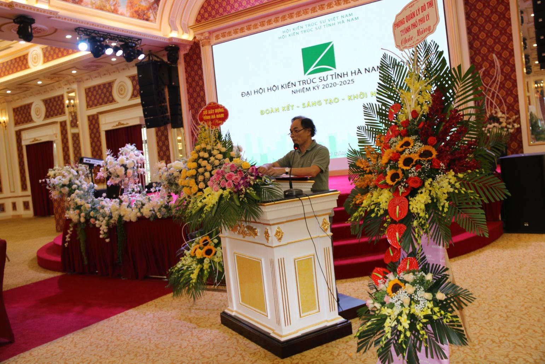 Ông Đỗ Quang Nha- Phó Giám đốc Sở Xây dựng, được bầu làm Chủ tịch Hội KTS tỉnh khóa V nhiệm kỳ (2020-2025)