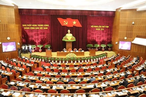 Hội nghị Trung ương 8 khóa XII. Ảnh: TTXVN