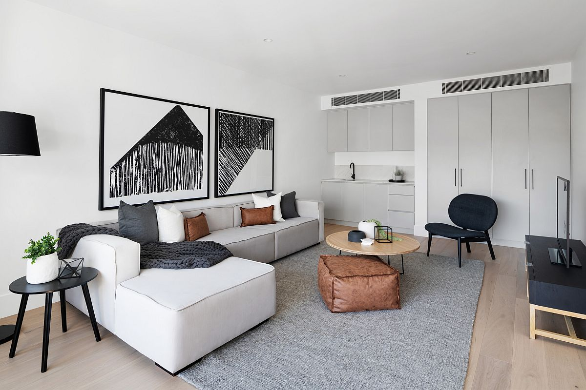 Sofa chữ L có thể phù hợp với cả phòng khách nhỏ và lớn khác nhau