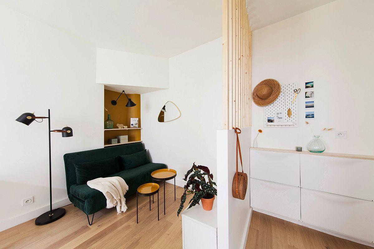 Sofa được chọn lựa khéo léo và phù hợp sẽ giúp phòng khách nhỏ trở nên ấn tượng hơn