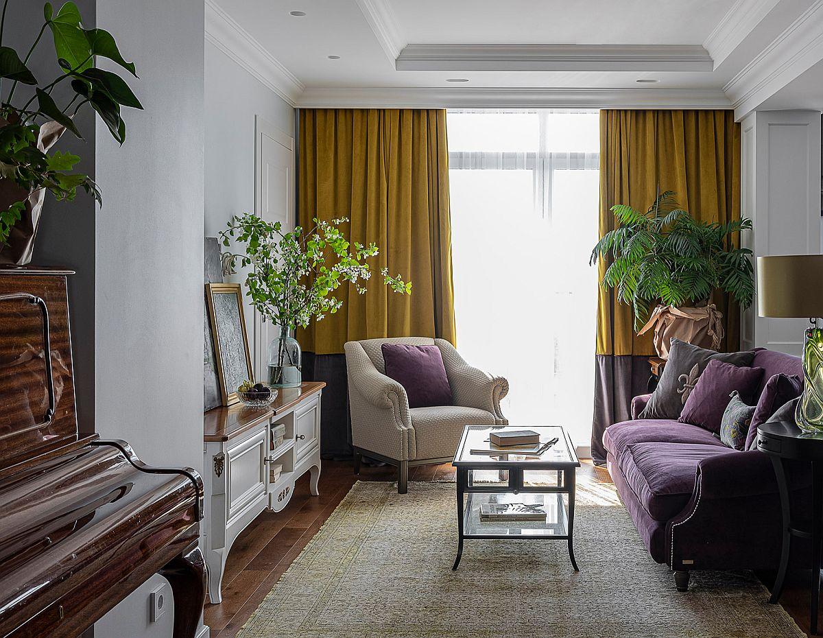 Bất kỳ gam màu nào đều có thể tạo nên dấu ấn riêng cho căn phòng khách của chính mình