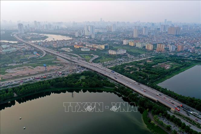Tuyến đường vành đai 3 trên cao Hà Nội. Ảnh minh họa: Ngọc Hà/TTXVN