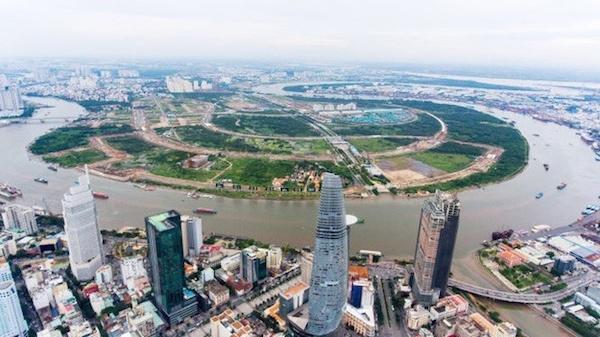 Khu đô thị mới Thủ Thiêm nhìn từ trên cao