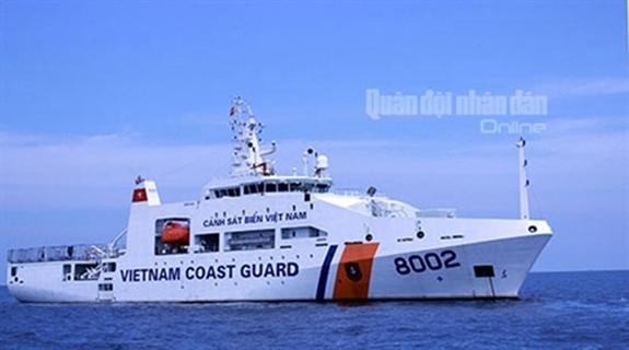 Tàu Cảnh sát biển Việt Nam tuần tra trên biển. Ảnh: Việt Cường.