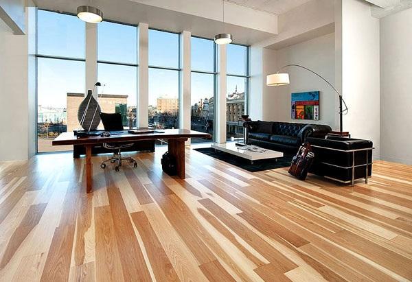 Sàn gỗ ghép thanh có độ cứng, độ bền tốt, ít bị cong vênh và giúp tiết kiệm chi phí.