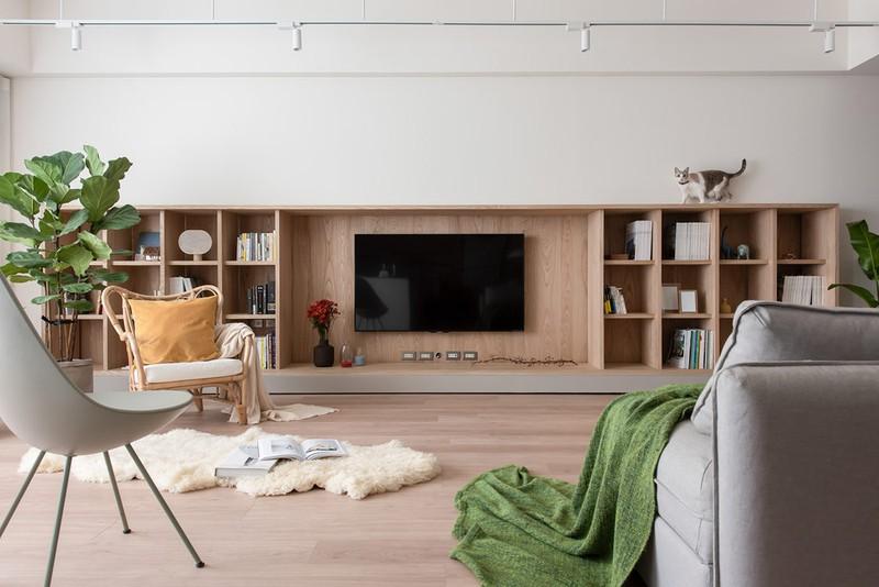 Chủ nhà mong muốn có nơi nghỉ ngơi sau khi làm việc, nên nội thất bên trong được đơn giản hóa đến mức tối đa