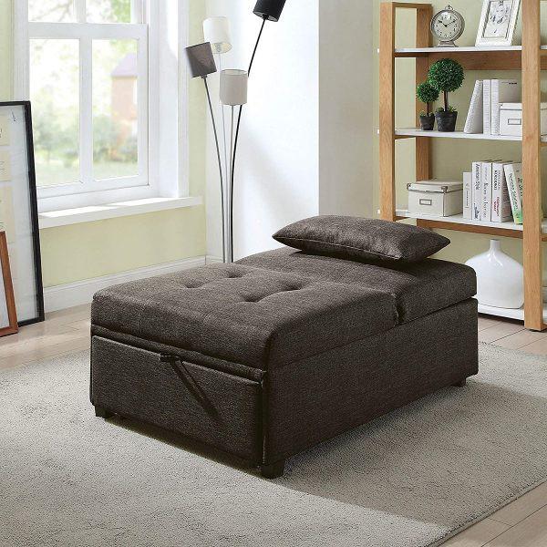 Ghế có kết cấu thông minh, có thể kéo dài ra để trở thành giường ngủ bất kỳ lúc nào