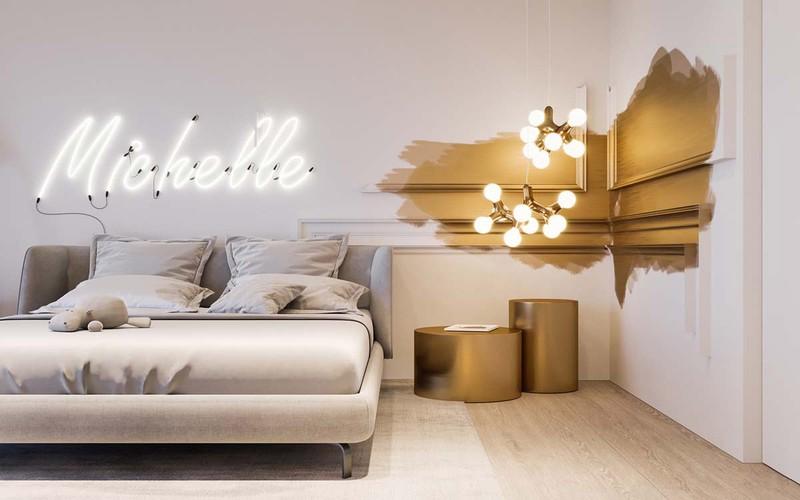 Sử dụng đèn và màu sơn để tạo nên sự khác biệt cho căn phòng.