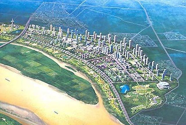 Phối cảnh một dự án thành phố bên bờ sông Hồng (năm 2019)