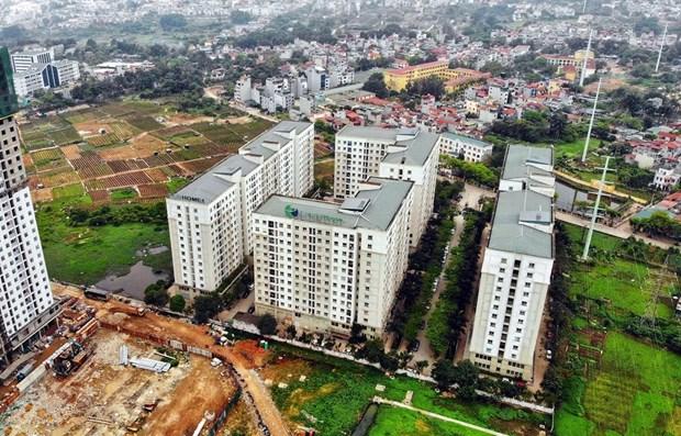 Dự án nhà ở xã hội EcoHome do Công ty CP Đầu tư và Thương mại Thủ đô (Capital House). (Ảnh: Danh Lam/TTXVN)