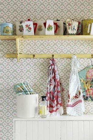 Muốn phòng giặt thêm hút mắt đừng ngần ngại lựa chọn giấy dán tường in hoa văn