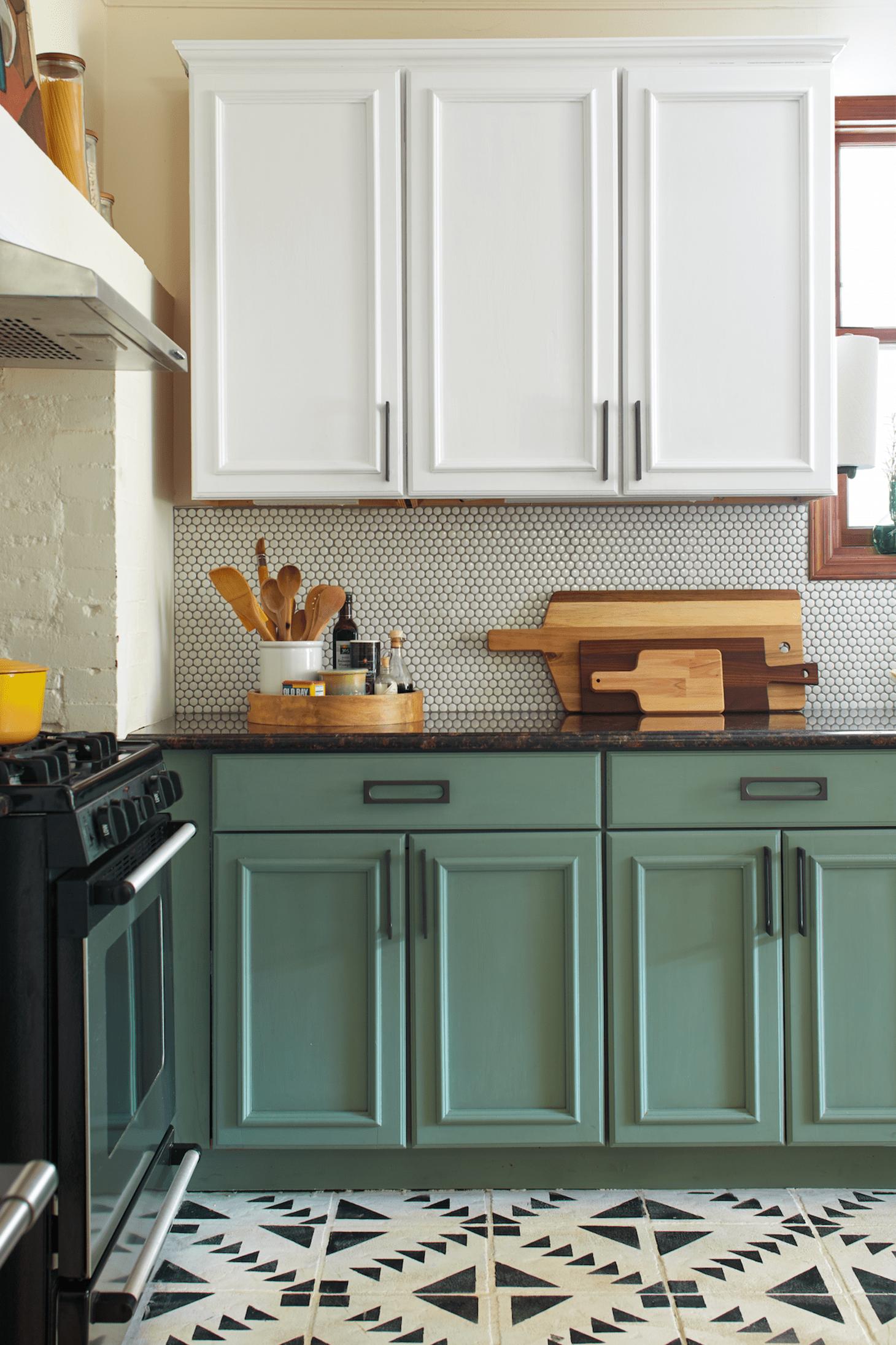 Gam màu xanh nhẹ nhàng giúp không gian tươi tắn, đẹp mắt và trẻ trung hơn