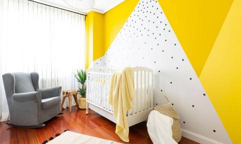 Vàng – sắc màu tươi vui đem lại hiệu quả bất ngờ cho phòng của bé