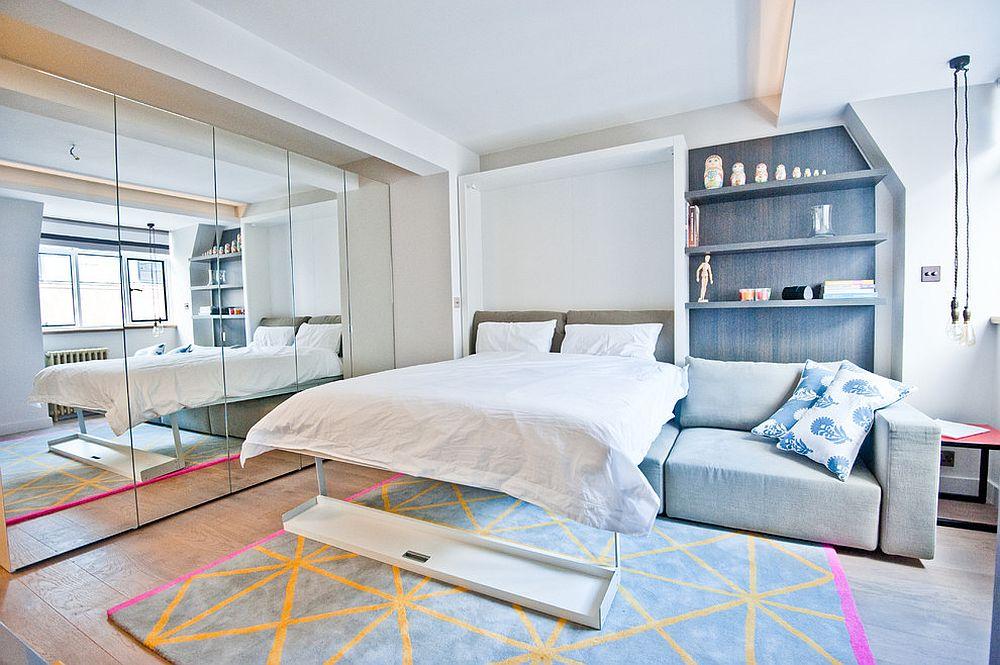 Cánh cửa trượt giúp căn phòng trở nên rộng rãi, tạo không gian trở nên vui vẻ, tươi mới