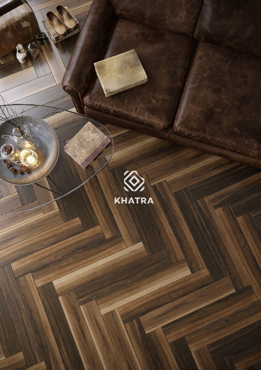 Gạch gỗ Walnut lót sàn
