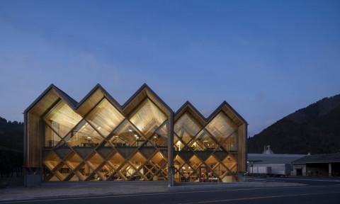 Văn phòng gỗ ép chéo đẹp mắt tại Nhật Bản