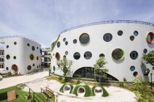 Trường mầm non với thiết kế độc đáo ở Nghệ An