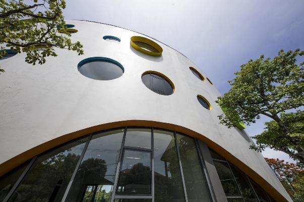 Mặt dựng tòa nhà bo tròn tinh tế