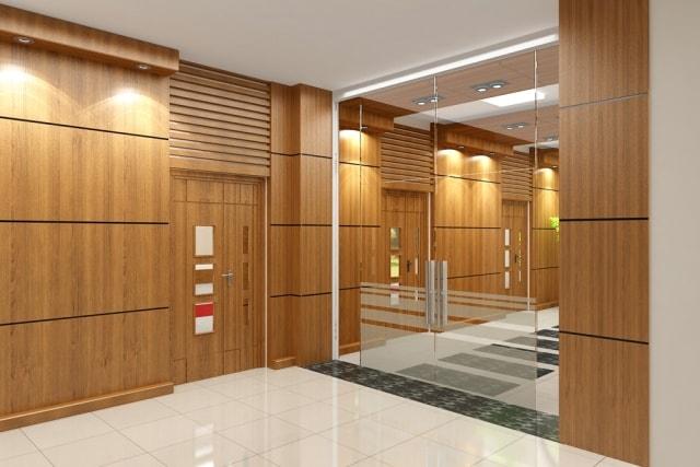 Vách ngăn văn phòng gỗ Veneer thân thiện với môi trường, không ảnh hưởng đến sức khỏe người dùng. Sử dụng chất liệu này còn có thể uốn cong, lượn góc, tạo hình trang trí trên bề mặt vách một cách sáng tạo, mang lại vẻ đẹp thẩm mỹ cao.