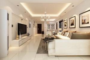 Mẫu thiết kế trần thạch cao phòng khách liền bếp