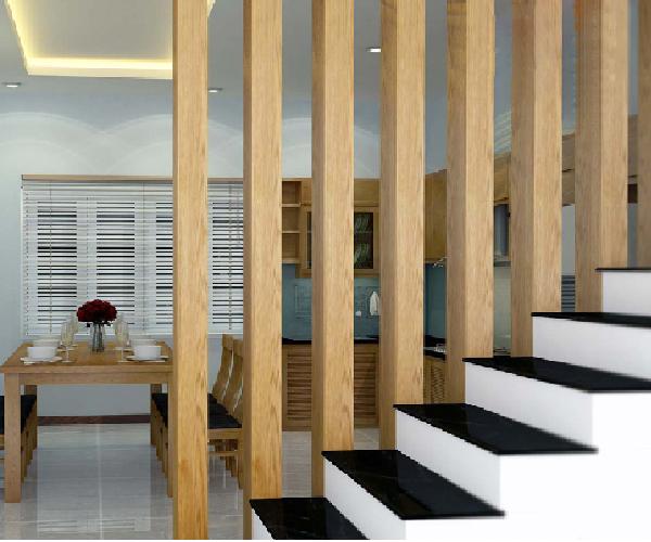 Hệ lam gỗ chắc chắn đảm bảo sự an toàn và cũng tạo sự thông thoáng cho không gian