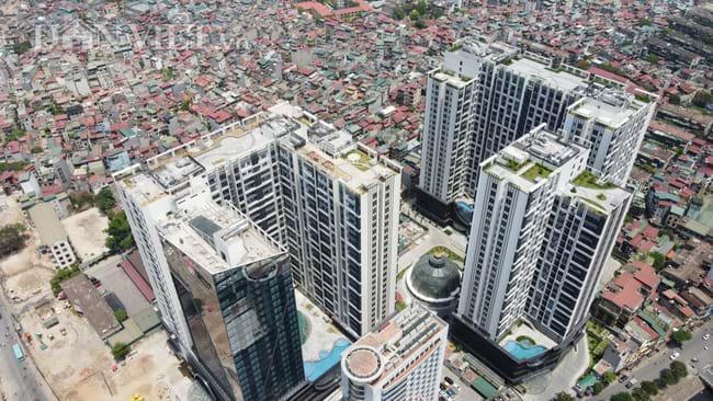 'Siêu' dự án Hinode City 201 Minh Khai (quận Hai Bà Trưng, TP Hà Nội) liên tục sai phạm nhưng không được cơ quan chức năng quản lý phát hiện, xử lý kịp thời. Ảnh: T.K