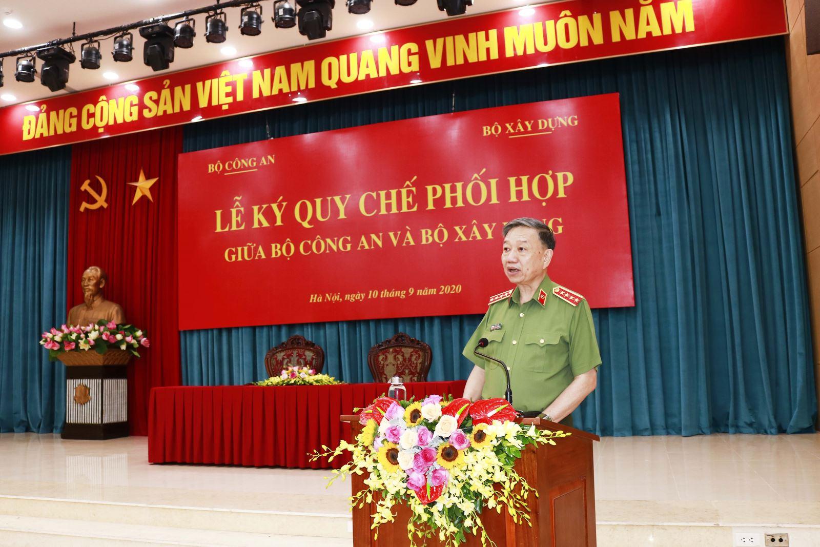 Bộ trưởng Tô Lâm phát biểu tại buổi lễ