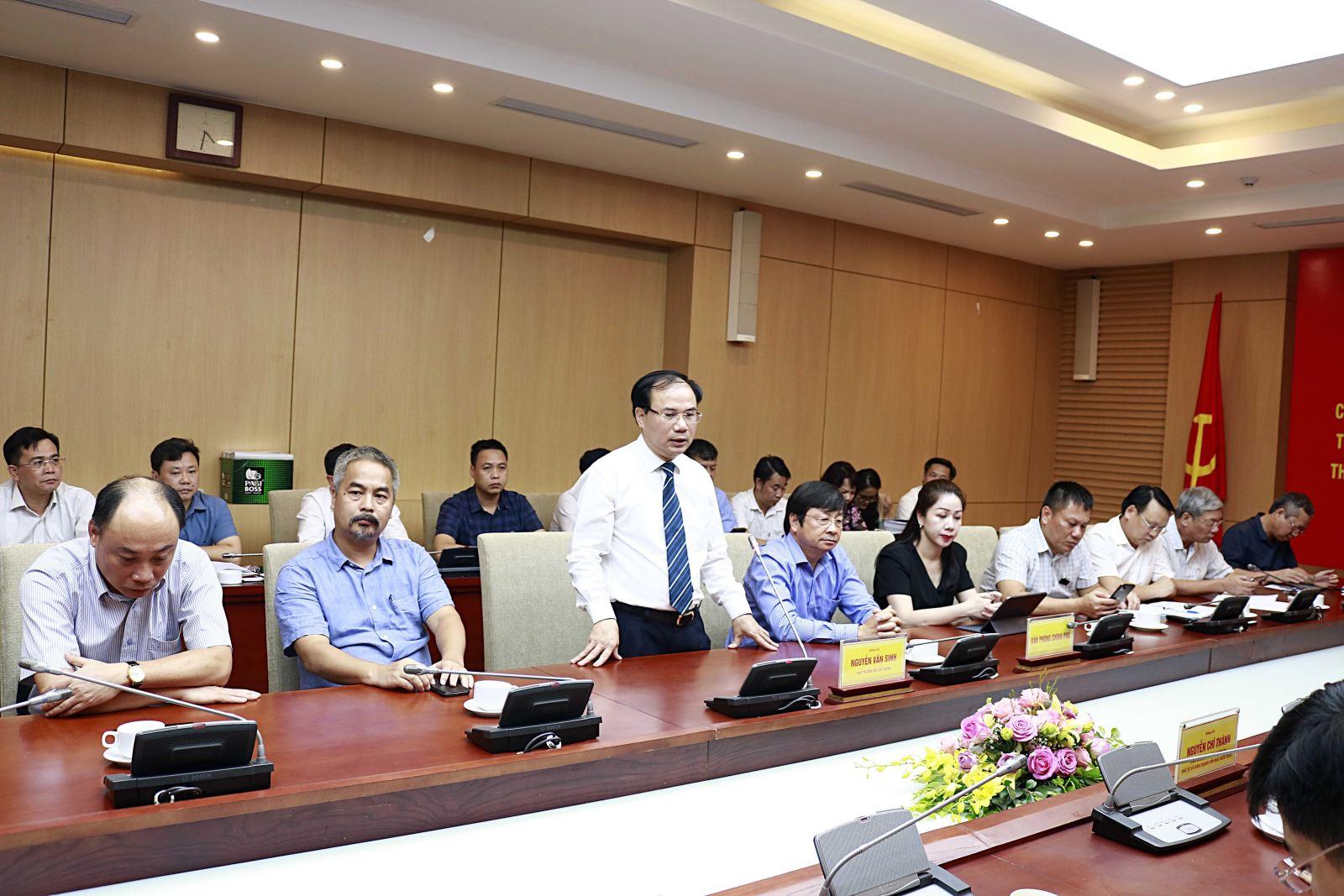 Thứ trưởng Bộ Xây dựng Nguyễn Văn Sinh phát biểu tại Lễ ký kết