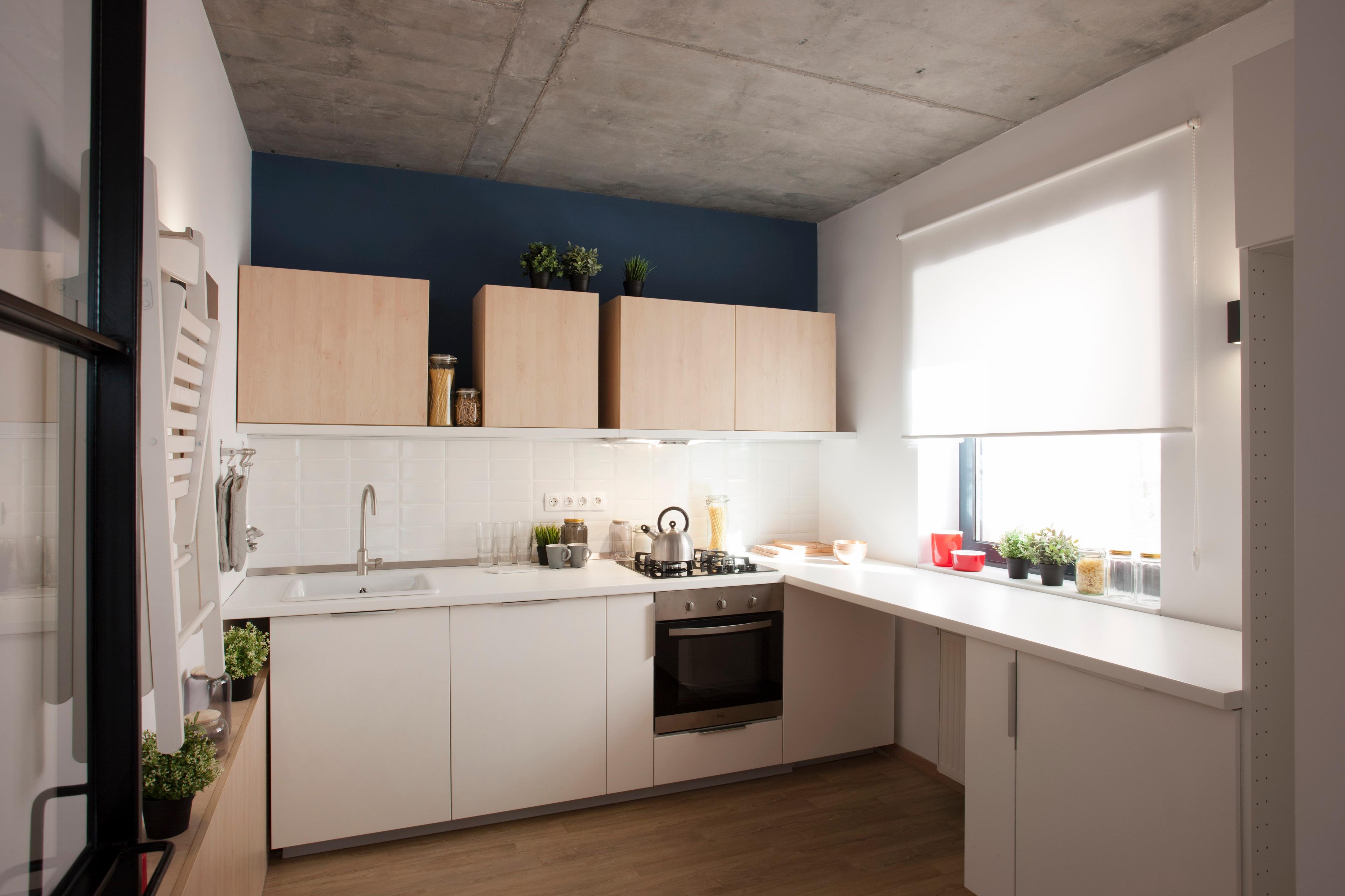 Nhà bếp cũng được tiếp xúc với ánh sáng bên ngoài vào