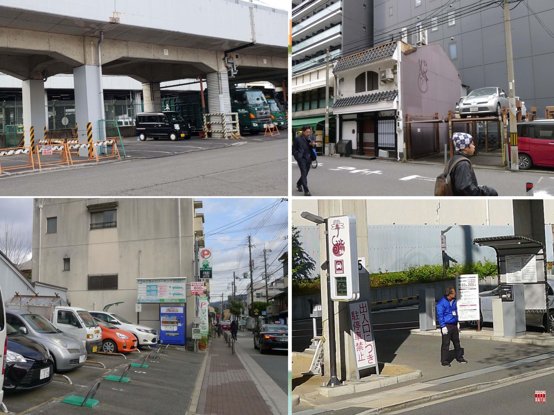 Tại  Kyoto (Nhật Bản): Từng mét vuông đất công được tận dụng làm bãi đỗ xe. Đất tư để hoang bị đánh thuế nặng nên khai thác đỗ xe đa dạng. Các khâu quản lý được tự động hóa, nhân viên trông xe chỉ làm việc cảnh báo an toàn cho xe ra vào...