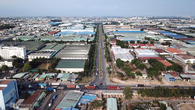 Khu công nghiệp Sóng Thần, huyện Dĩ An, tỉnh Bình Dương. Ảnh:Lê Tiên