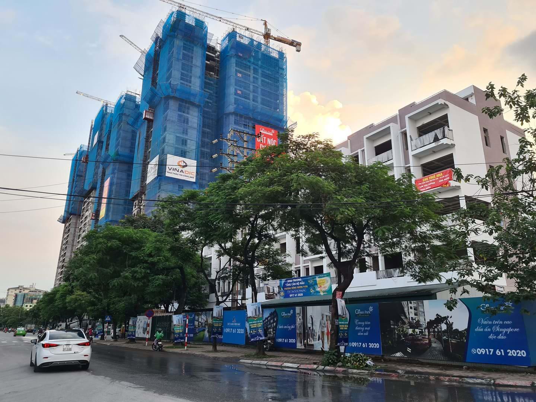 Từng xây dựng khi không phép, dự án Phương Đông Green Park số 1 Trần Thủ Độ mới đây còn bị phát hiện xây dựng sai phép. Ảnh: T.K