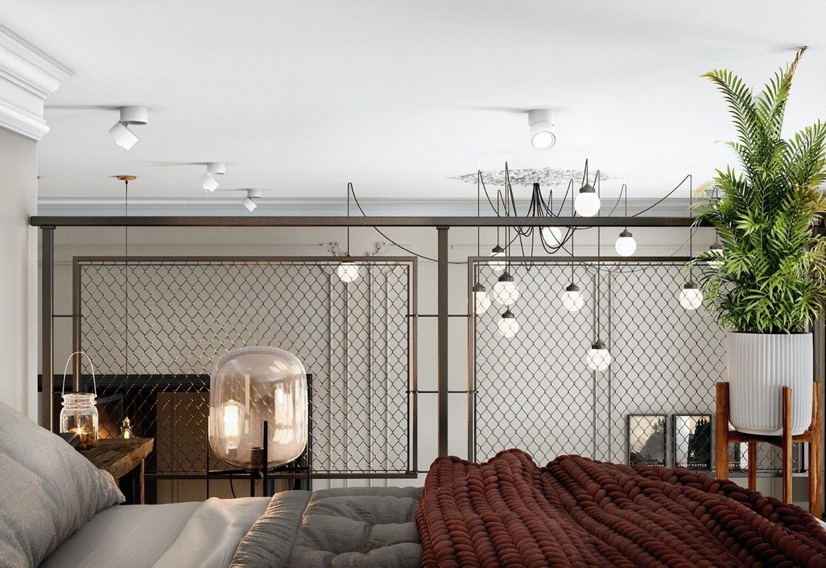 Tấm lưới sắt không cản ánh sáng, đồng thời bảo đảm an toàn cho chủ nhân khi ngủ, nghỉ