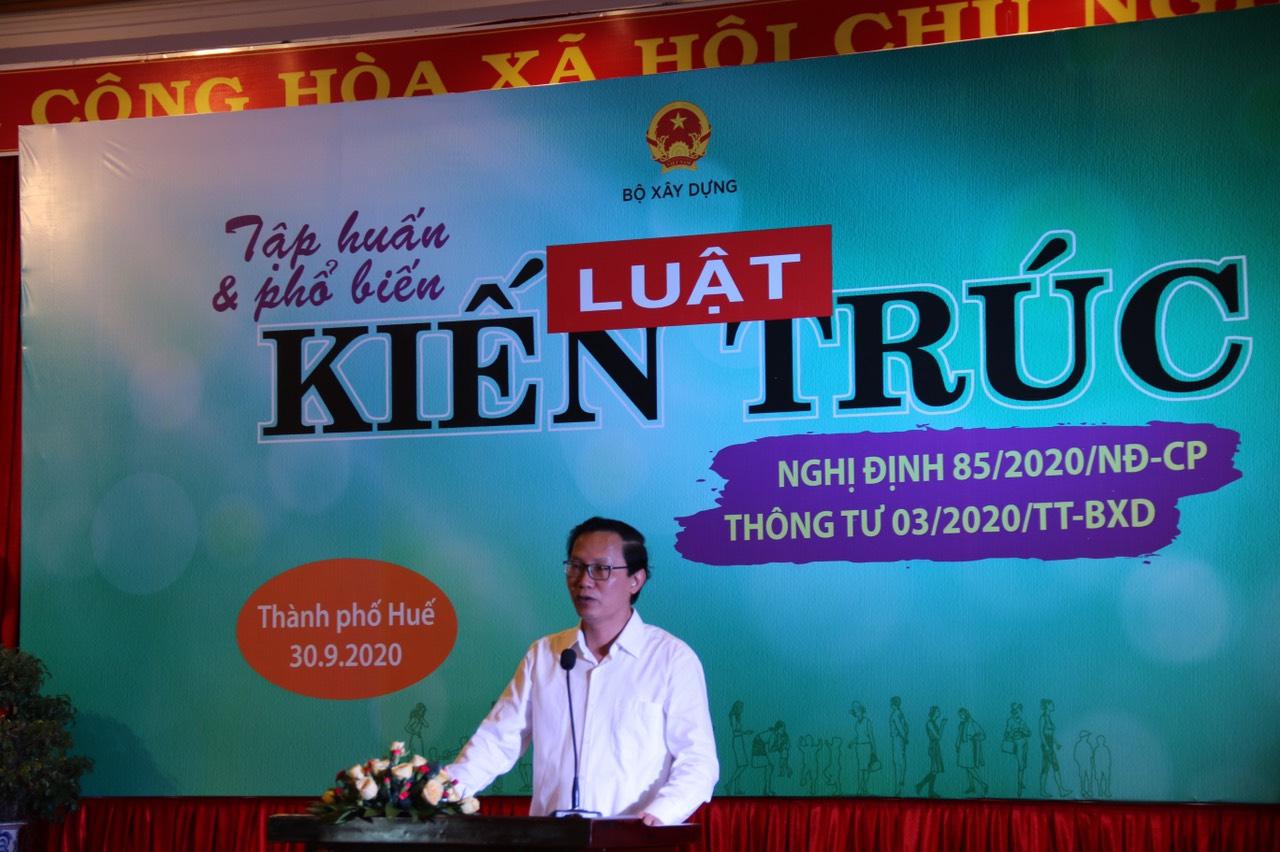 Thứ trưởng Nguyễn Đình Toàn khái quát Luật Kiến trúc đã được Quốc Hội thông qua năm 2019