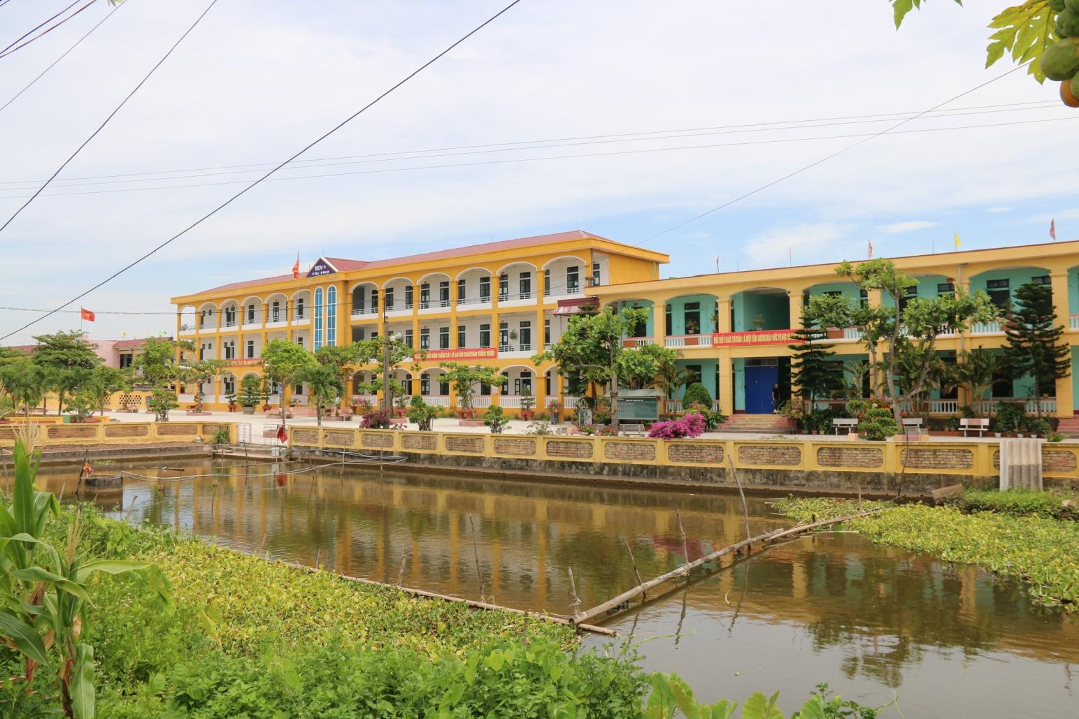 Trường học cấp 1 - 2 xã mới được quy hoạch xây dựng lại năm 2019