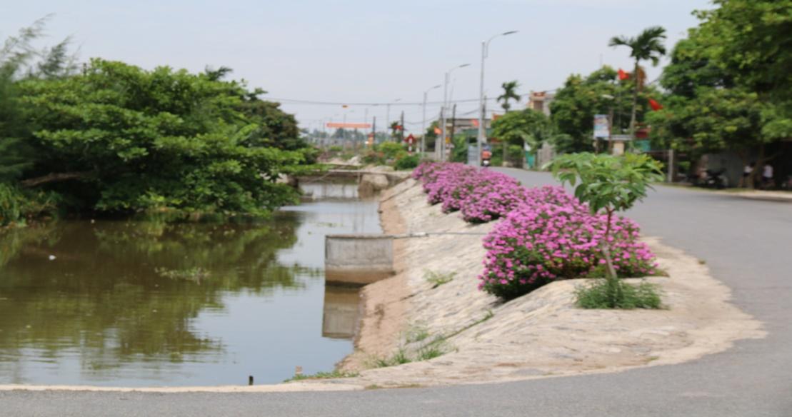 Người dân chú trọng chăm sóc cảnh quan, đường làng ngõ xóm không chỉ xanh sạch mà còn phải đẹp
