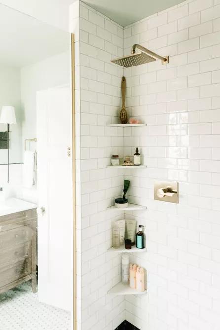 Đây là chiếc kệ hoàn hảo để đựng tất cả các loại dầu gội, sữa tắm và những vật dụng cần thiết trong phòng tắm nhỏ