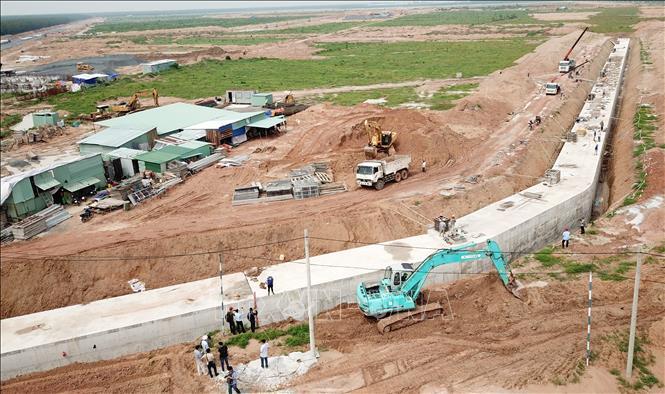 Một góc Khu tái định cư Lộc An - Bình Sơn