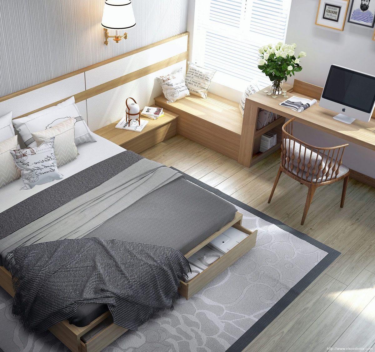 Hãy luôn nhớ quy tắc nhiều công năng cho một món đồ trong một căn phòng nhỏ. Chính vì vậy hãy chọn những chiếc giường có ngăn kéo - món đồ nội thất giúp lưu trữ tuyệt vời.
