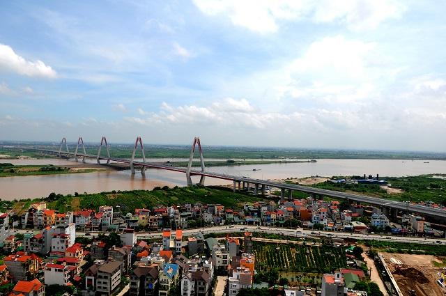 Khai thác, sử dụng quỹ đất bãi sông Hồng để phục vụ xây dựng, phát triển kinh tế - xã hội của Thủ đô. Ảnh: Thanh Hải