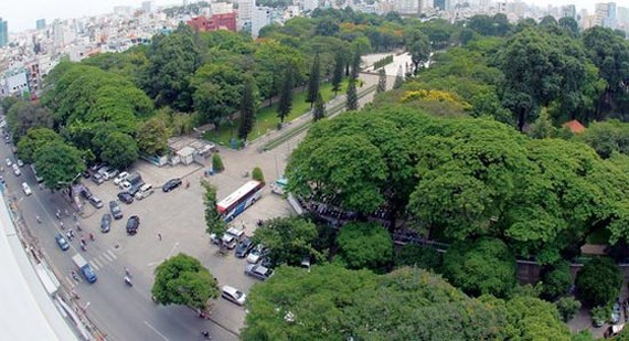 Một góc mảng xanh tại Công viên Lê Văn Tám, TPHCM. Ảnh: CAO THĂNG